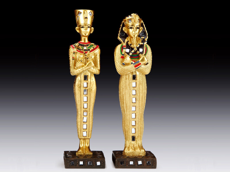 EGYPTIAN KING AND QUEEN. 2PCS/SET