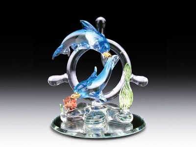 DOLPHINS ON WHEEL AND BASE