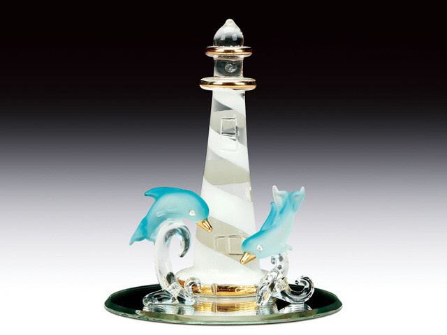 DOLPHINS WITH LIGHTHOUSE