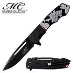 (F8) MASTERS COLLECTION BLACK W/WARRIOR SPRING ASSISTED
