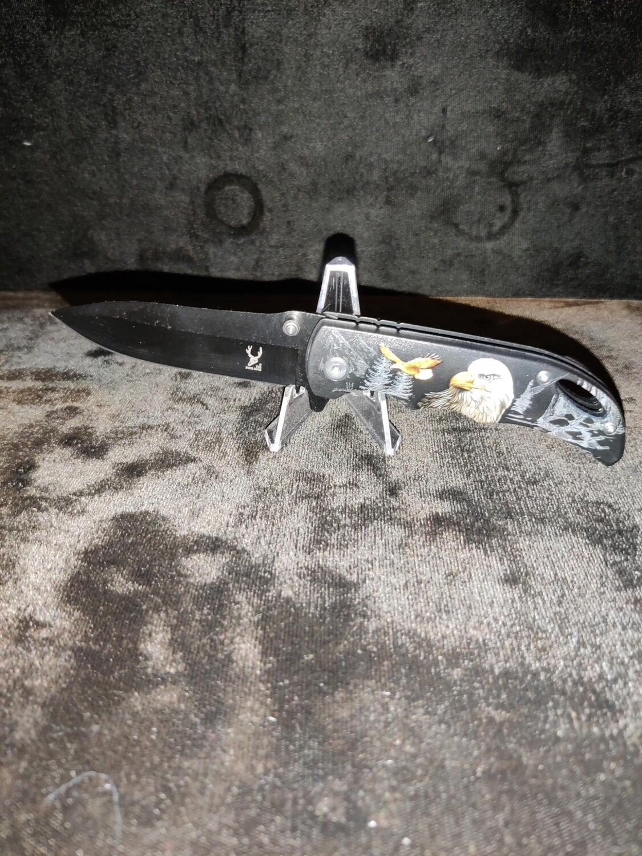 (F16) WOODS EAGLE SPRING ASSISTED POCKET KNIFE