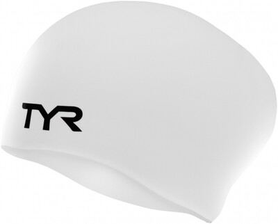 1870058 LONG HAIRED SILICONE CAP LCSL WHITE 100