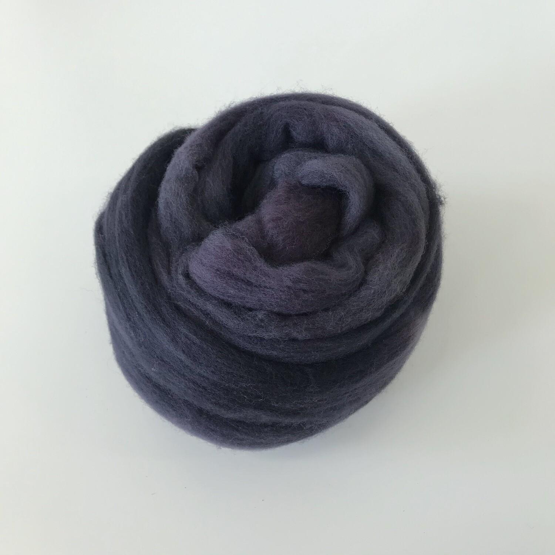 FLUFF - Hand-dyed Merino Roving - Midnight