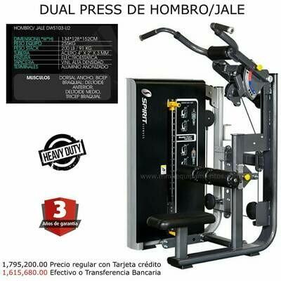 DUAL PRESS DE HOMBRO / JALE