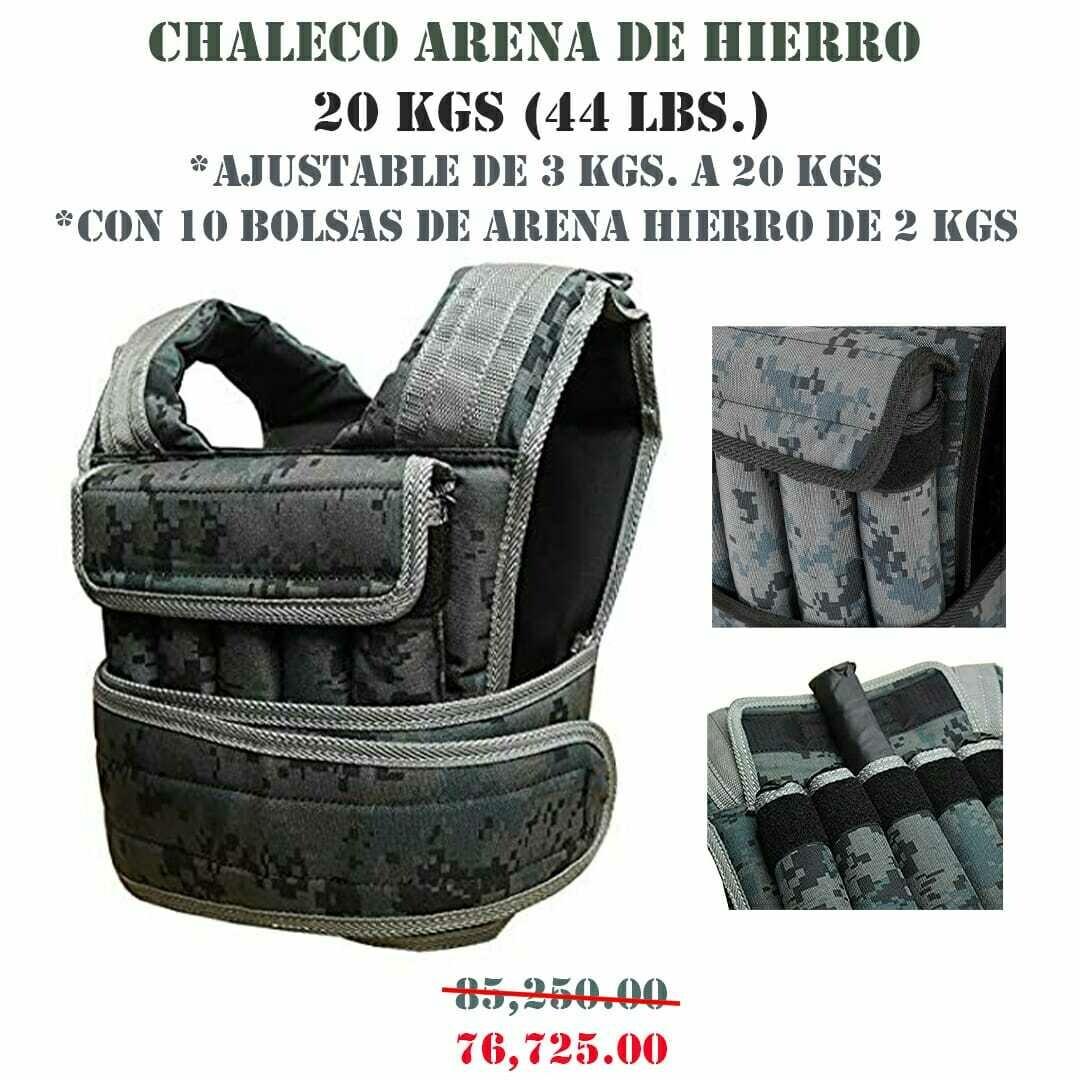 CHALECO ARENA DE HIERRO 20 KG (44 LBS)