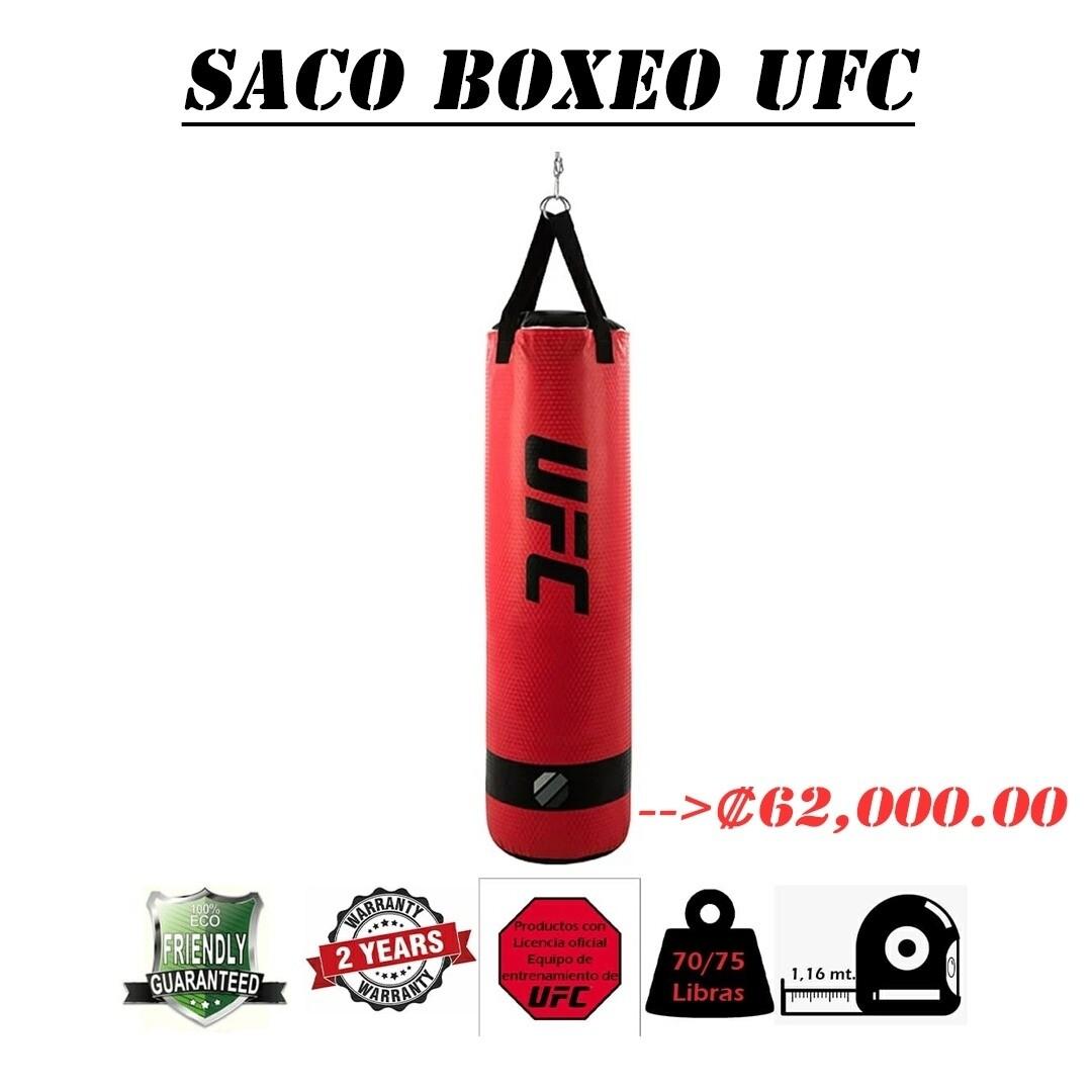 SACO UFC ROJO 1.16mts 70/75lbs