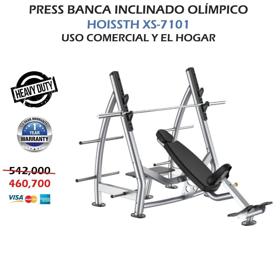 PRESS BANCA INCLINADO OLIMPICO XS- 7101