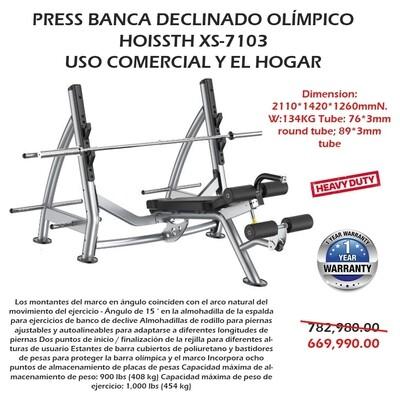 PRESS BANCA DECLINADO OLIMPICA XS-7103