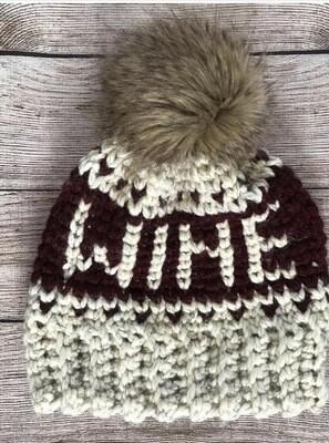 Knitted Wine Beanie