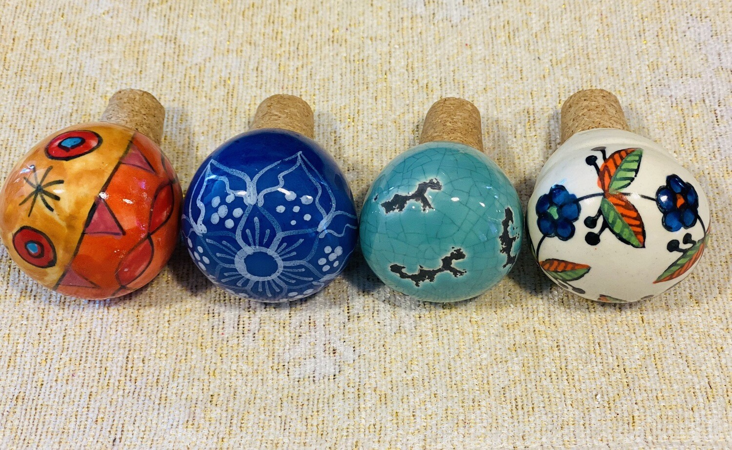 Hand Painted Ceramic Bottle Stoppers