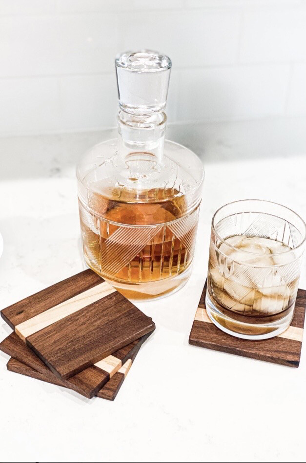 American Walnut Handcrafted Coasters (Set Of 4)