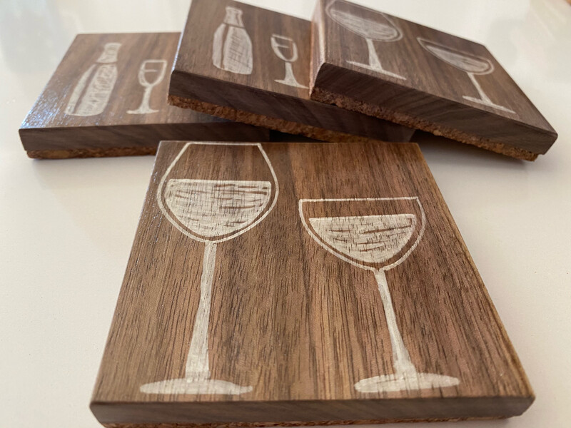 Handcrafted Wood Coasters