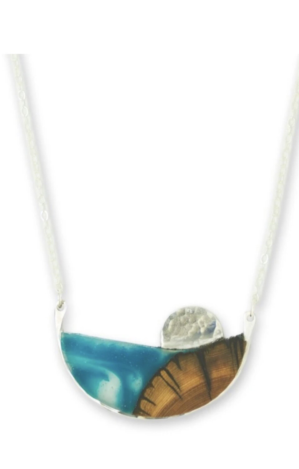 """ATOLL"" JUNIPER NECKLACE- Sterling Silver"