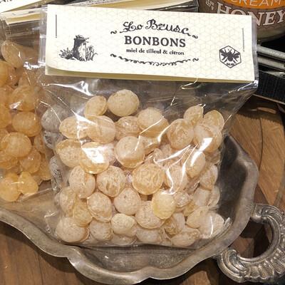 Lo Brusc Honey Drop Candies Tilleul Citron (Linden Flower & Lemon) - 150g Bag