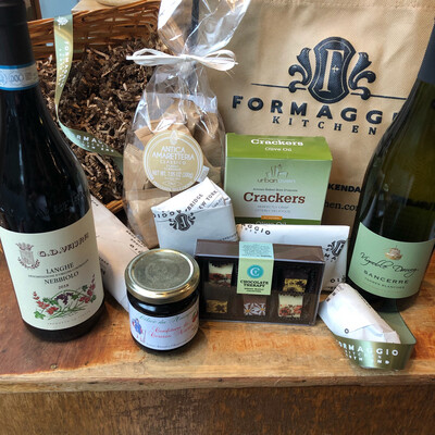 Wine and Cheese Gift Basket or Gift Tote - Medium