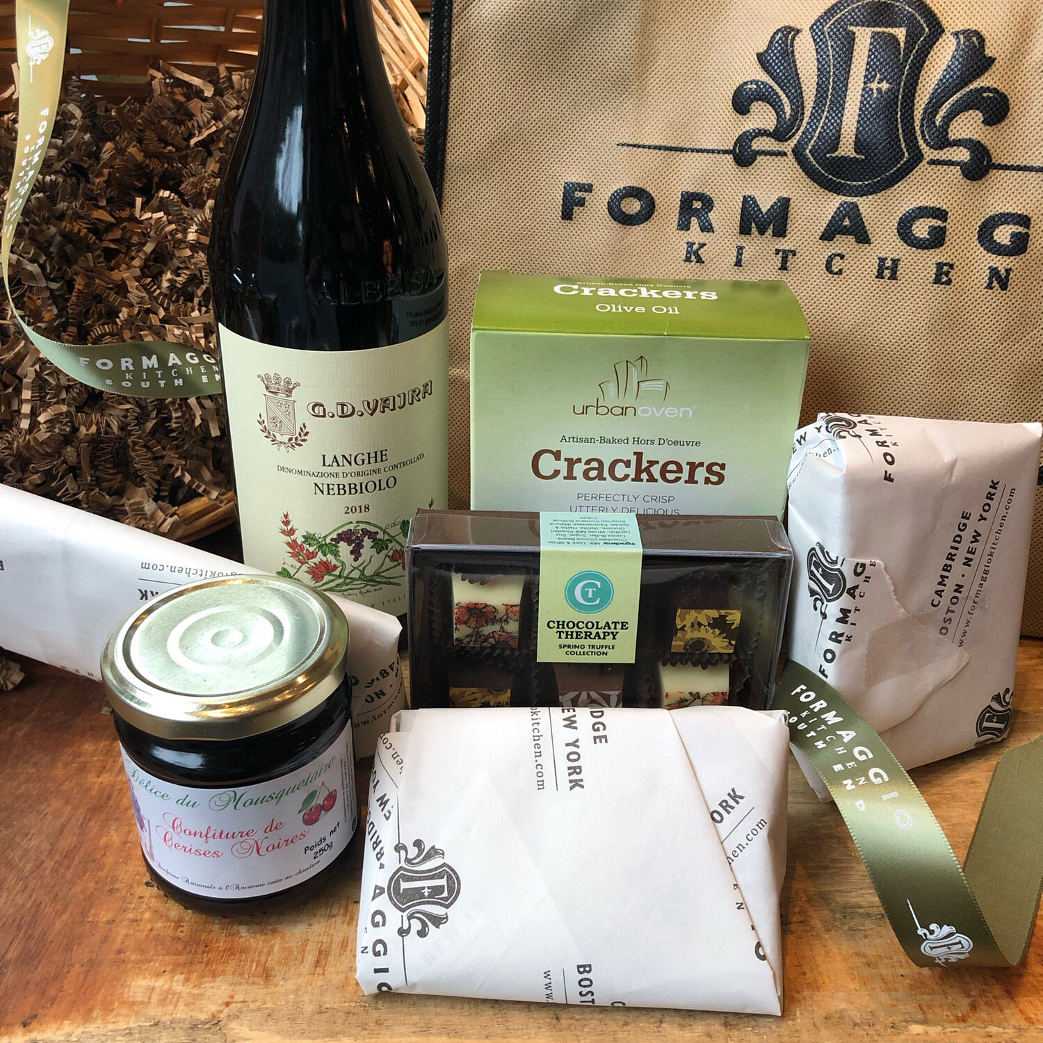 Wine and Cheese Gift Basket or Gift Tote - Small