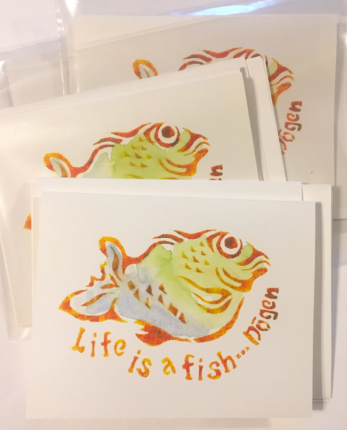 LIFE IS A FISH - Notecards