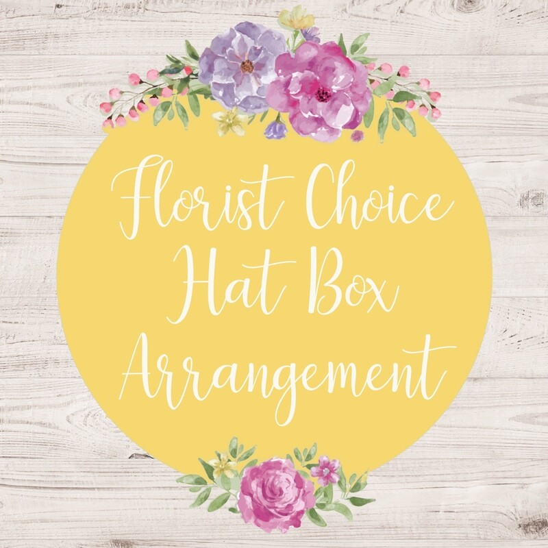 Florist Choice Hat Box Arrangement (Larger sizes are available to choose from)