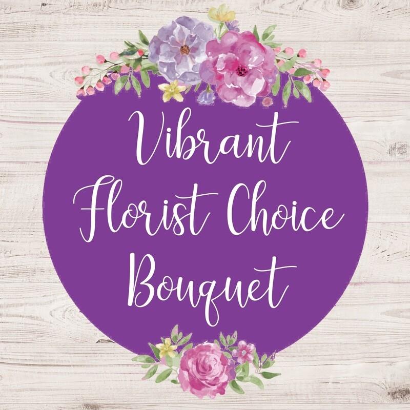 Florist Choice Bouquet Vibrant (larger sizes available to choose)