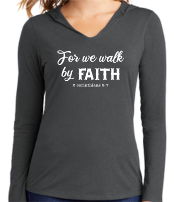Faith Collection Hoodie Tee 2 Corinthians 5:7