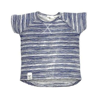 RIFFLE T-shirtje blauw/wit gestreept