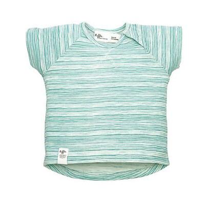 RIFFLE T-shirtje groen/wit gestreept