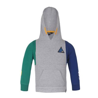BBL Grijze sweater groen en blauw