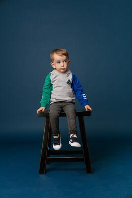 BBL Grijze skinny jeansbroek