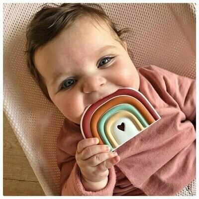 Siliconen bijtspeeltje - Regenboog
