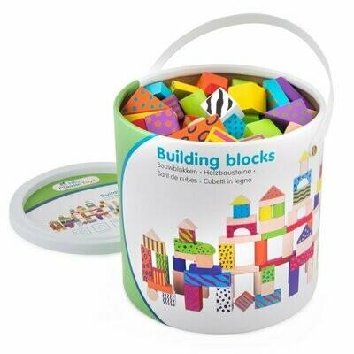 Tonnetje met bouwblokken