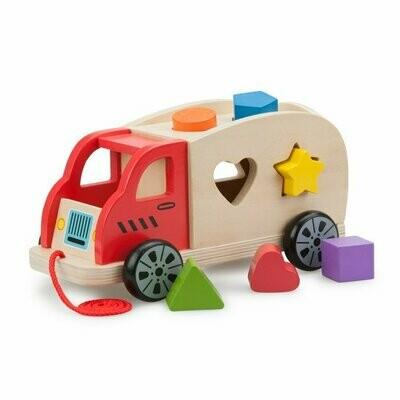 Auto met vormpjes