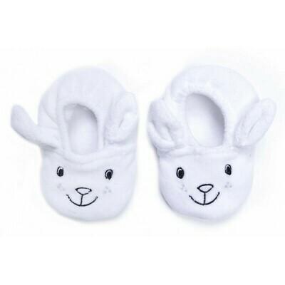 Witte konijnen pantoffeltjes