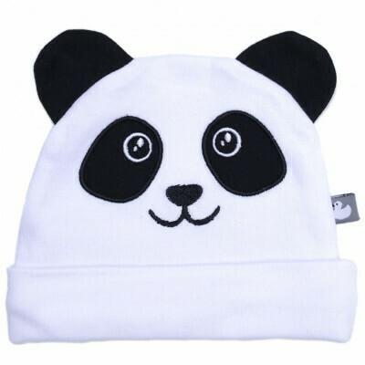 Wit panda mutsje