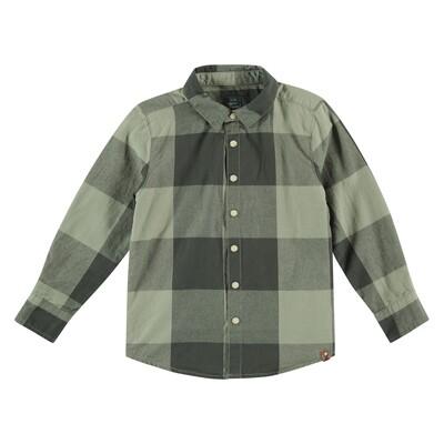 BFC Donkergroen geruit hemd