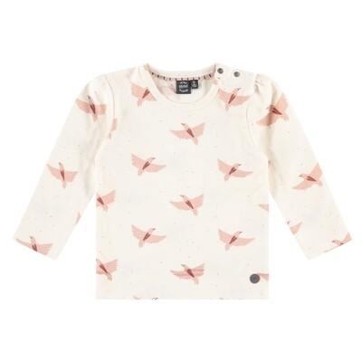 BFC Ivoor bloes met vogeltjes