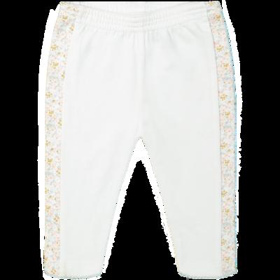 DB Witte broek met bloemetjes