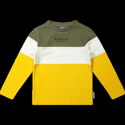 VR Groen/wit/gele bloes