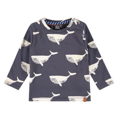 BFC Donkerblauwe bloes met walvissen