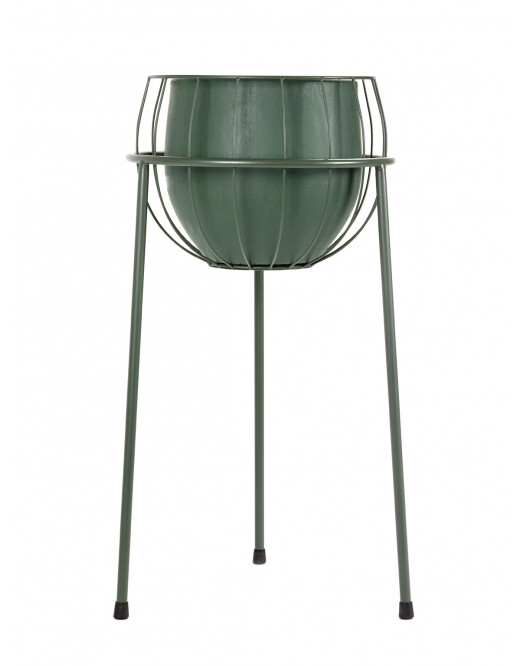 PLANT STAND CAGE INCL POT