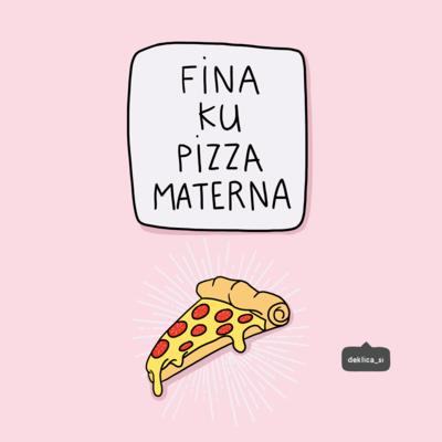 Print 'Pizza', 14x14 cm BREZ POŠTNINE