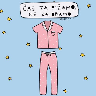 Print 'Drama pižama', 14x14 cm BREZ POŠTNINE