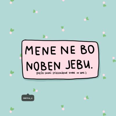 Print 'Ne me je***', 14x14 cm, BREZ POŠTNINE