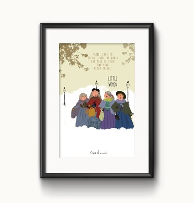 """Little Women""- UNFRAMED WALL ART"