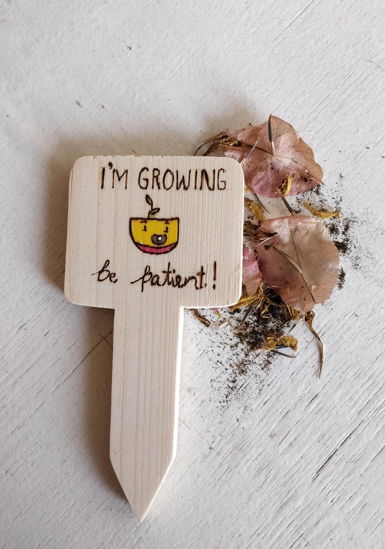 """I'm Growing"" - Plant Label"