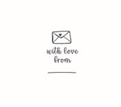 """""""Love From"""" Rubber Stamp"""
