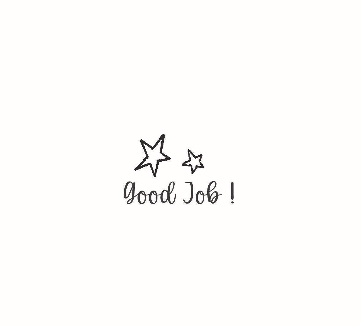 """Good Job"" Rubber Stamp"