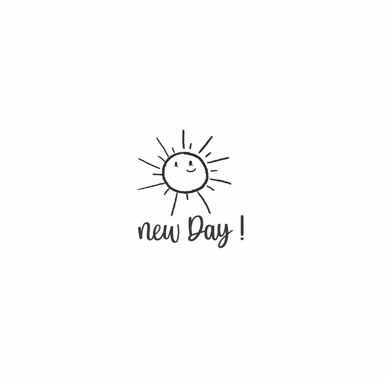 """""""New Day"""" Rubber Stamp"""