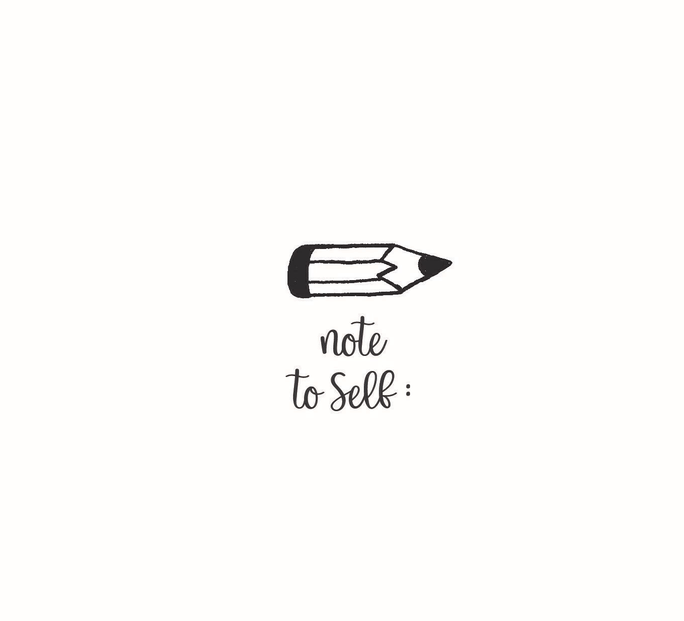 """""""Note to Self"""" Rubber Stamp"""