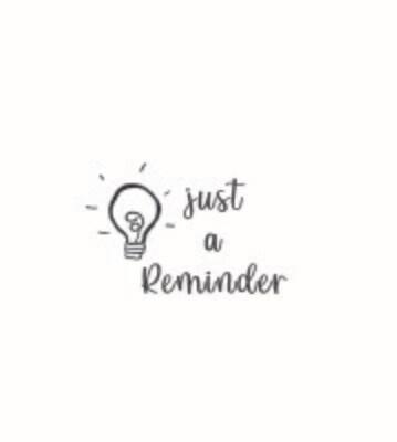 """""""Reminder"""" Rubber Stamp"""