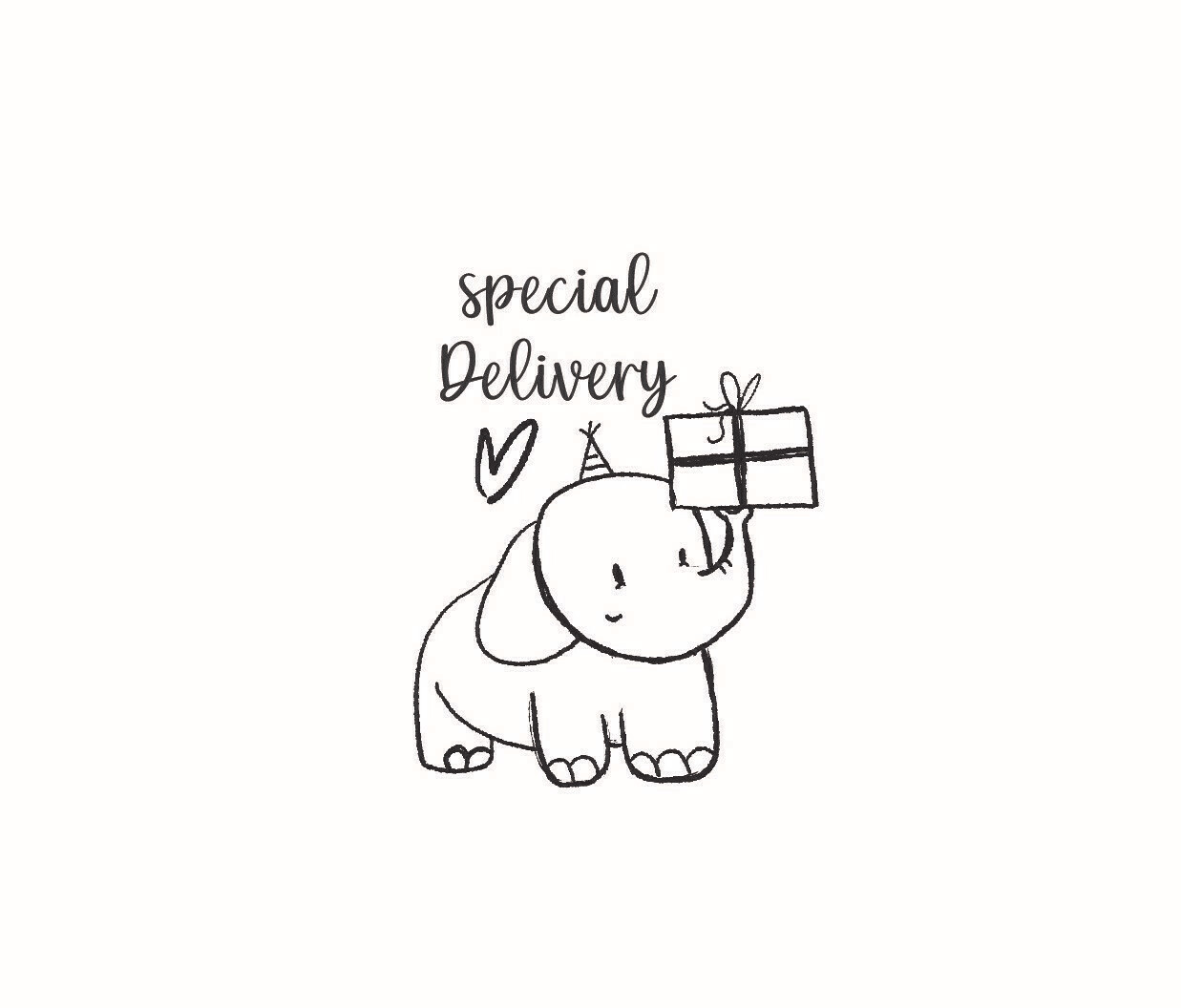 """""""Special Delivery"""" Rubber Stamp"""